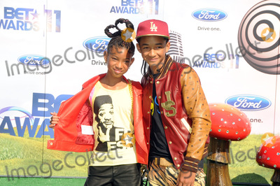 Willow Smith, Jaden Smith Photo - Actress/Singer Willow Smith (L) and Actor/Rapper Jaden Smith arriving at the BET Awards '11 held at the Shrine Auditorium on June 26, 2011 in Los Angeles, California.