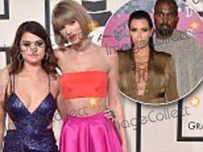 Axel Bauer, Gomez, Selena Gomez, Taylor Swift, Grammy Awards, Hüsker Dü Photo - LOS ANGELES, CA - FEBRUARY 15:  Musicians Selena Gomez (L) and Taylor Swift arrive at The 58th GRAMMY Awards at Staples Center on February 15, 2016 in Los Angeles, California.  (Photo by Axelle/Bauer-Griffin/FilmMagic)