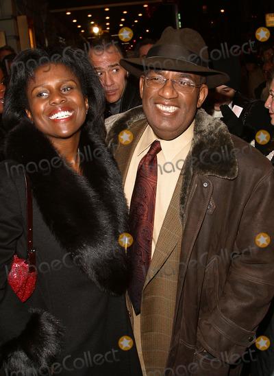 "Al Roker, August Wilson, Deborah Roberts, AL ROCKER Photo - Deborah Roberts and husband Al Roker attending the opening night for the Broadway Revival of August Wilson's ""Ma Rainey's Black Bottom."" New York, February 6, 2003."
