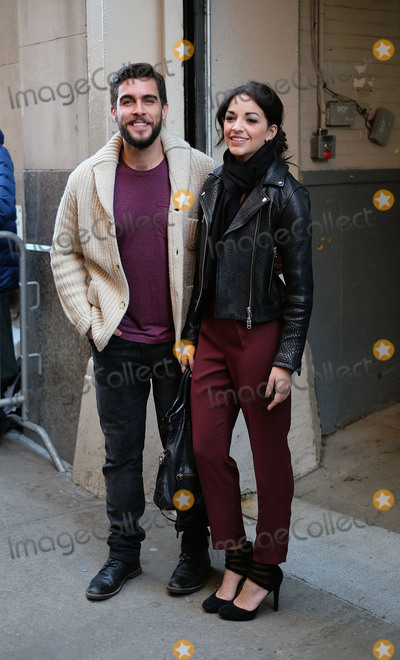 Ana Villafane, Josh Segarra, Ana Ivanoviæ Photo -   January 28 2016, New York City  Broadway actors Ana Villafane (R) and Josh Segarra made an appearance at HuffPost Live on January 28 2016 in New York City  By Line: Curtis Means/ACE Pictures   ACE Pictures, Inc. tel: 646 769 0430