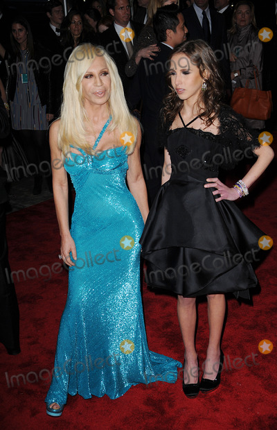 Allegra Beck, Beck, Muse, Donatella Versace Photo - Designer Donatella Versace and Allegra Beck arriving at 'The Model as Muse: Embodying Fashion' Costume Institute Gala at The Metropolitan Museum of Art on May 4, 2009 in New York City.