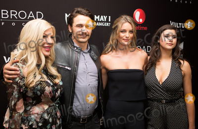 James Franco, Tori Spelling, Leila George, Amber Coney Photo -   June 7 2016, New York City  Tori Spelling, James Franco, Leila George and Amber Coney arriving at the New York screening of  'Mother, May I Sleep With Danger?' at the Crosby Street Theater on June 7, 2016 in New York City.  By Line: Serena Xu/ACE Pictures   ACE Pictures, Inc. tel: 646 769 0430