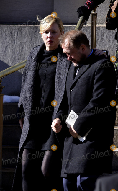 Andrew Upton, Cate Blanchett, Philip Seymour Hoffman, CATE BLANCHETTE Photo - February 7 2014, New York City