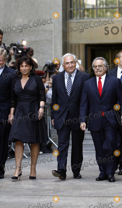 Sinclair, Supremes, Dominique Strauss-Kahn, Anne Sinclair, Benjamin Brafman Photo - Former IMF director Dominique Strauss-Kahn leaving the Manhattan State Supreme Court with his wife Anne Sinclair and attorney Benjamin Brafman on August 23, 2011 in New York City. The criminal sexual assault charges against Strauss-Kahn were dropped.