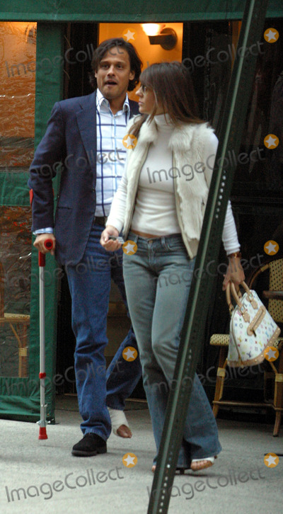 Arun Nayer, Liz Hurley Photo - British model turned actress Liz Hurley pictured having a lunch with ner new boyfriend Arun Nayer at a restaurant just across the street from her New York hotel. New York, April 14, 2003.