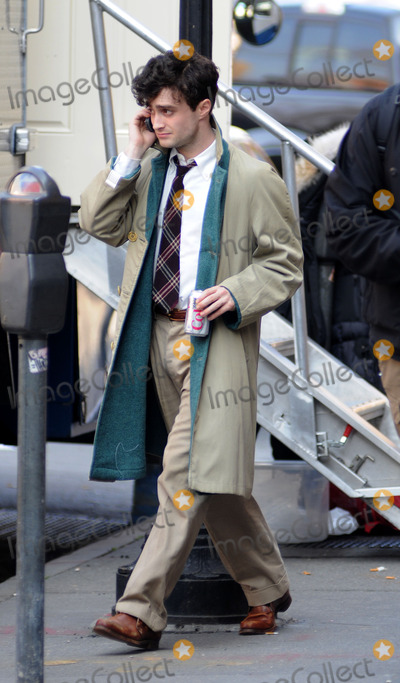 Daniel Radcliffe, Daniel Radcliff, Allen Ginsberg Photo - Actor Daniel Radcliffe plays Beat Poet Allen Ginsberg in the new movie 'Kill Your Darlings' on March 19 2012 in Brooklyn, New York