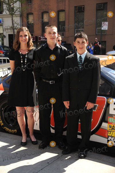 ANNABETH BARNES, BRANDON WARREN, JOSHUA HOBSON Photo - L-R) Racer Annabeth Barnes, racer Brandon Warren and  racer Joshua Hobson at the premiere of 'Racing Dreams' during the 2009 Tribeca Film Festival at SVA Theater on April 25, 2009 in New York City.