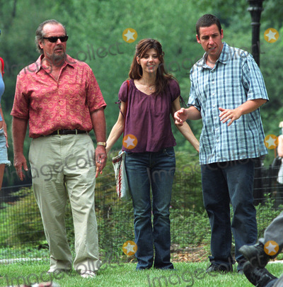 Photos And Pictures Jack Nicholson Marisa Tomei And Adam Sandler On The Set Of Anger Management In Central Park New York July 1 2002