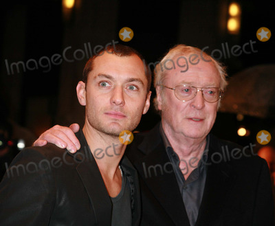 Jude Law, Michael Cain, Michael Caine, Michael Bublé, Michael Paré Photo - Jude Law and Michael Caine arriving at the UK film premiere of 'Sleuth', at the Odeon West End cinema