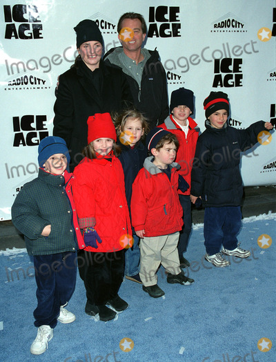 """Kennedy, Robert F. Kennedy, Robert F. Kennedy Jr., Robert F. Kennedy, Jr., Robert Kennedy Jr., Robert Kennedy, Jr. Photo - ROBERT F. KENNEDY JR. with his wife MARIA and children attend the world premiere of """"Ice Age"""" at the Radio City Music Hall in New York. March 10, 2002.  2002 by Alecsey Boldeskul/NY Photo Press.     *PAY-PER-USE*          NY Photo Press:    phone (646) 267-6913;     e-mail: infocopyrightnyphotopress.com"""