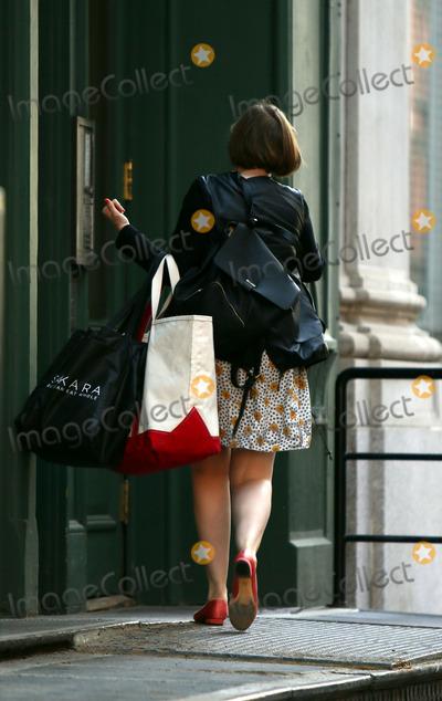 Lena Dunham, Taylor Swift Photo - April 14 2014, New York City  Actress and writer Lena Dunham arrived at Taylor Swift's Tribeca apartment on April 14 2014 in New York City