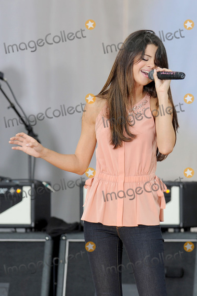 Selena Gomez, Gomez Photo - Singer Selena Gomez during her performance on ABC's 'Good Morning America' at Rumsey Playfield, Central Park on June 17, 2011 in New York City