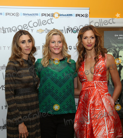 Alysia Reiner, Anna Gunn, Anna Maria Perez de Taglé Photo -   July 26 2016, New York City  (L-R) Actress and writer Sarah Megan Thomas, actresses Anna Gunn and actress Alysia Reiner attending the Mamarazzi Screening Of 'Equity' at the Crosby Street Theater on July 26, 2016 in New York City  By Line: Serena Xu/ACE Pictures   ACE Pictures Inc Tel: 6467670430