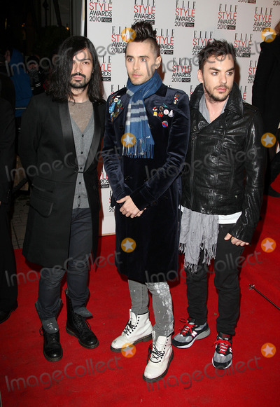 Jared Leto, 30 Seconds to Mars Photo - Jared Leto and 30 Seconds To Mars arriving at the ELLE Style Awards at Grand Connaught Rooms on February 22, 2010 in London, England.