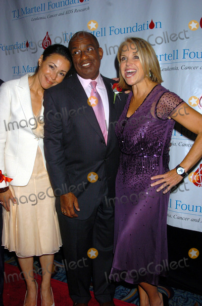 Al Roker, Ann Curry, Katie Couric, TJ Martell, ANNE CURRY Photo - NEW YORK, OCTOBER 6,  2005     Katie Couric, Al Roker, and Ann Curry at the TJ Martell Foundation 30th Anniversary Gala held at the Mariott Marquis Hotel.