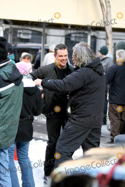 Matt Damon Photo - Matt Damon on the movie set of 'The Bourne Ultimatum'.
