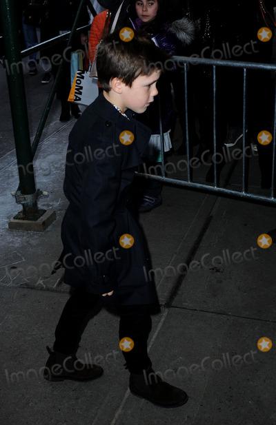 Cruz Beckham Photo - February 9 2014, New York City  Cruz Beckham arriving at Balthazar in Soho on February 9 2014 in New York City