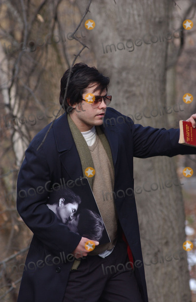 """Jared Leto, Tara Subkoff, John Lennon, Lindsay Lohan Photo - Jared Leto and Tara Subkoff were in Central Park filming """"Chapter 27"""". The movie follows the days leading up to the murder of John Lennon by Mark David Chapman (played by Leto). Lindsay Lohan will also be in the movie. Leto can be seen clutching a John Lennon album and a copy of 'Catcher in the Rye'."""