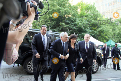 Sinclair, Dominique Strauss-Kahn, Anne Sinclair Photo - Former head of the IMF Dominique Strauss-Kahn and his wife Anne Sinclair arriving at Manhattan Criminal court to plead regarding sex-related charges on June 6 2011 in New York City