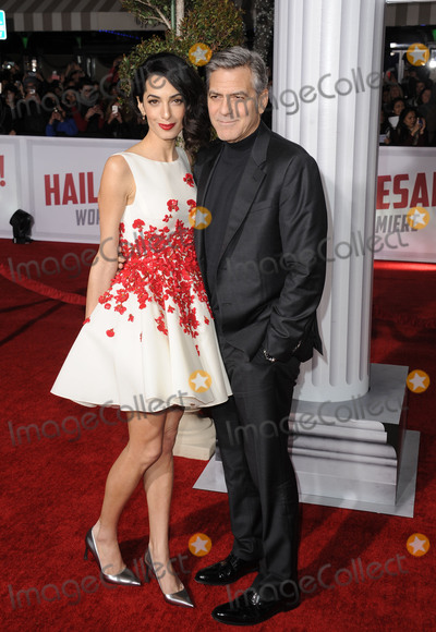 George Clooney, Amal Clooney Photo -   February 1 2016, LA  Actor George Clooney (R) and his wife Amal Clooney arriving at the premiere of 'Hail, Caesar!' at the Regency Village Theatre on February 1, 2016 in Westwood, California.   By Line: Peter West/ACE Pictures   ACE Pictures, Inc. tel: 646 769 0430