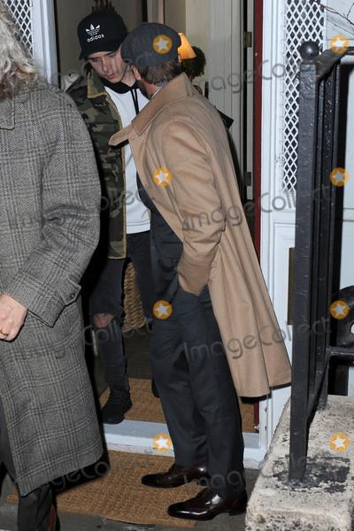 Anna Wintour, Brooklyn Beckham, David Beckham Photo - February 8, 2016 New York CityBrooklyn Beckham and David Beckham leaving a party held at the residence of Anna Wintour on February 8, 2016 in New York City.Credit: Kristin Callahan/ACE PicturesTel: (646) 769 0430