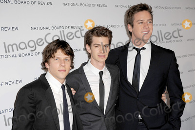 Jesse Eisenberg, Andrew Garfield, Armie Hammer Photo - Jesse Eisenberg, Andrew Garfield and Armie Hammer attend the 2011 National Board of Review of Motion Pictures Gala at Cipriani 42nd Street on January 11, 2011 in New York City