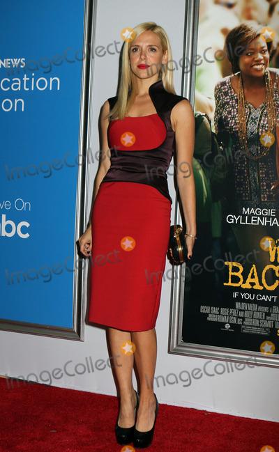 Anastasia Ganias, Anastasia Photo - September 23, 2012. New York City.   Anastasia Ganias arriving at the premiere of Won`t Back Down at the Ziegfeld Theatre on September 23, 2012 in New York City