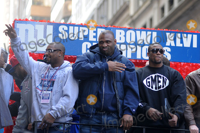 Brandon Jacobs, Ahmad Bradshaw Photo - February 7, 2012. New York City. Ahmad Bradshaw and Brandon Jacobs attend the Giants' Victory Parade for Super Bowl XLVI on February 7, 2012 in New York City.