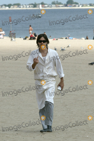 "Jared Leto, Coney Island Photo - Actor Jared Leto returns to Coney Island. Four years ago Leto starred in 'Requiem For a Dream' a drama about a drug addict which unfolded on Coney Island.     Today, Jared Leto returns to film his latest movie, ""Lord of War.""     Gentleman Leto did a heroic thing while on movie set. Leto resqued a Russian girl from a stalker who followed her from home to the ocean front. Later, Leto approached the girl to find out if she was OK.    Brooklyn, New York, August 7, 2004."