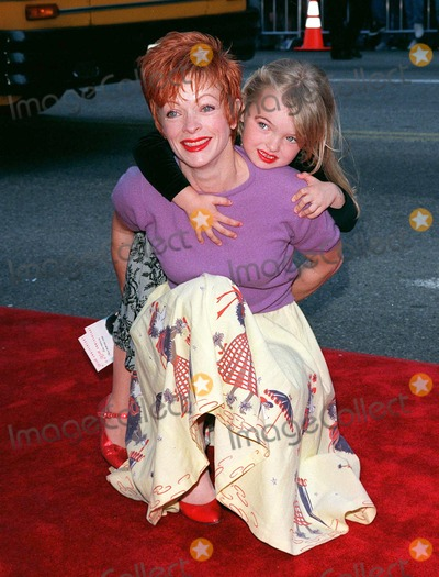 """Clint Eastwood, Frances Fisher Photo - 15MAR98:  """"Titanic"""" star FRANCES FISHER with her daughter, by Clint Eastwood, FRANCESCA at 20th anniversary re-premiere of """"Grease"""" at Mann's Chinese Theatre, Hollywood."""