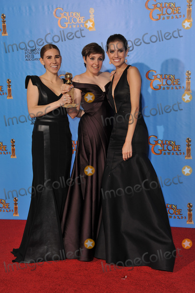 Lena Dunham, Zosia Mamet, Alison Williams Photo - Girls stars Zosia Mamet (left), Lena Dunham & Alison Williams at the 70th Golden Globe Awards at the Beverly Hilton Hotel.January 13, 2013  Beverly Hills, CAPicture: Paul Smith / Featureflash