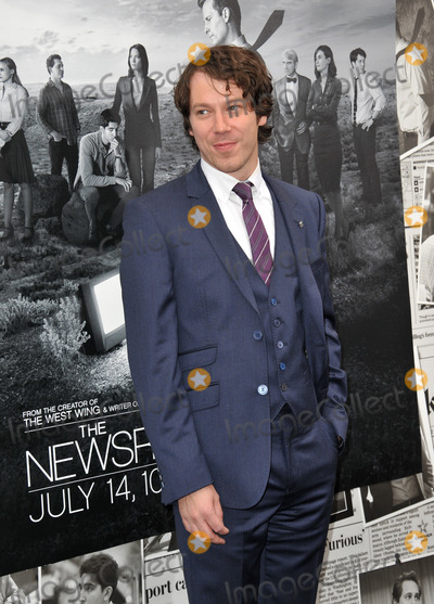 Gallagher, John Gallagher, John Gallagher Jr., John Gallagher, Jr. Photo - John Gallagher Jr. at the season two premiere of HBO's The Newsroom at Paramount Studios, Hollywood.