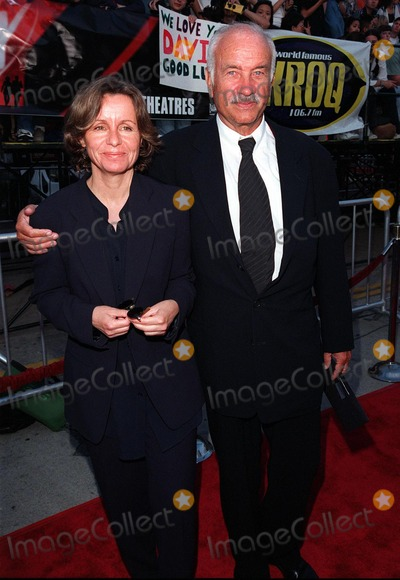 "Armin Mueller-Stahl Photo - 11JUN98:  Actor ARMIN MUELLER-STAHL & wife at the world premiere, in Los Angeles, of his new movie ""The X-Files.""