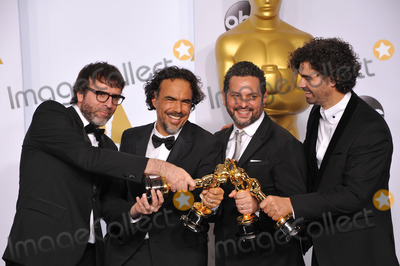Alejandro Gonzalez Inarritu, Armando Bo, Alexander Dinelaris Photo - Alejandro Gonzalez Inarritu & Nicolas Giacobone & Alexander Dinelaris Jr. & Armando Bo at the 87th Annual Academy Awards at the Dolby Theatre, Hollywood.February 22, 2015  Los Angeles, CAPicture: Paul Smith / Featureflash