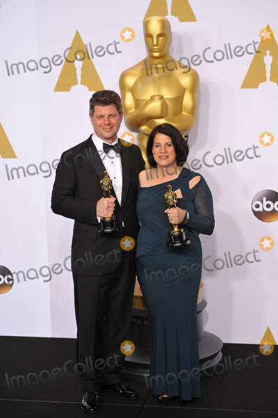 Adam Stockhausen, Anna Pinnock, Anna Maria Perez de Taglé Photo - Adam Stockhausen & Anna Pinnock at the 87th Annual Academy Awards at the Dolby Theatre, Hollywood.