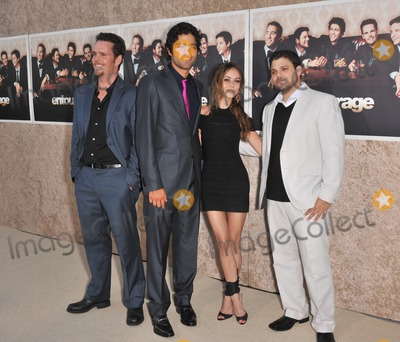 "Adrien Grenier, Alexis Dziena, Jerry Ferrara, Kevin Dillon Photo - LtoR: Kevin Dillon, Adrien Grenier, Alexis Dziena & Jerry Ferrara at the premiere for the sixth season of the HBO TV series ""Entourage"" at Paramount Studios, Hollywood.
