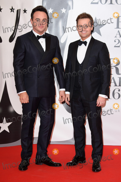 Declan Donnelly Photo - Ant McPartlin & Declan Donnelly at The BRIT Awards 2016 at the O2 Arena, London.February 24, 2016  London, UKPicture: Steve Vas / Featureflash