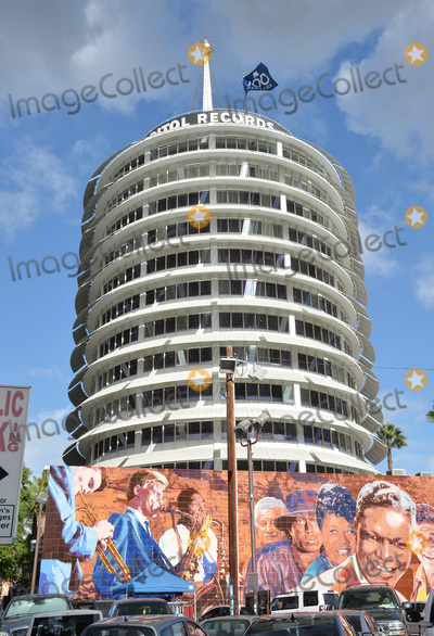 Frank Sinatra, The Ceremonies Photo - Flag on Capitol Records Building at the ceremony atop the Capitol Records Building in Hollywood to raise a 100th birthday flag in honor of singer Frank Sinatra who was born 100 years ago on 12th December. Los Angeles. December 11, 2015 December 11, 2015  Los Angeles, CAPicture: Paul Smith / Featureflash