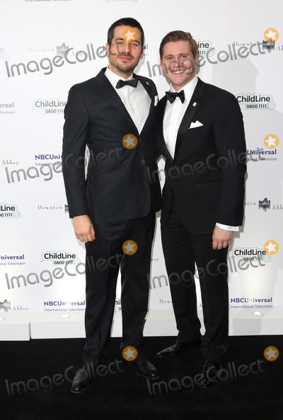 Alan Leech, Rob James-Collier Photo - Rob James-Collier, Alan Leech arriving at The Downton Abbey ChildLine Ball held at the Savoy, London. 24/10/2013 Picture by: Henry Harris / Featureflash