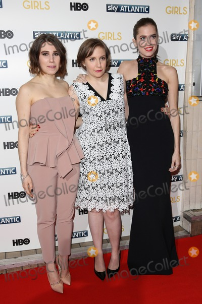 Allison Williams, Lena Dunham, Zosia Mamet Photo - Zosia Mamet, Lena Dunham, Allison Williams arriving for the Girls - UK premiere of the third series held at the Cineworld Haymarket - Arrivals, London. 15/01/2014 Picture by: Henry Harris / Featureflash
