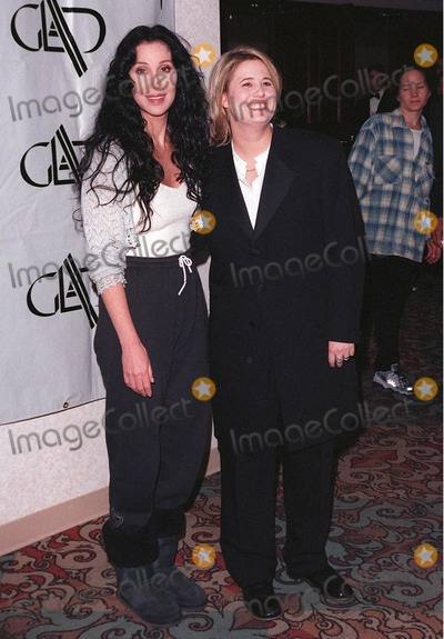 Bono, Chastity Bono, Cher Photo - 20APR98:  Actress CHER & step-daughter CHASTITY BONO (right) at the 9th Annual GLAAD (Gay & Lesbian Alliance Against Defamation) Awards, in Beverly Hills, where Cher was presented with a special award.