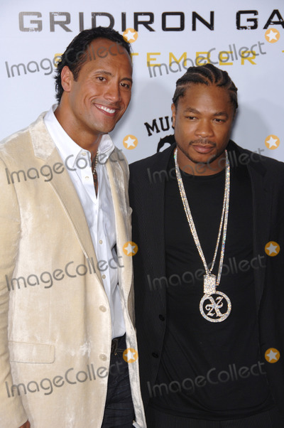 """Alvin """"Xzibit"""" Joiner, Alvin 'Xzibit' Joiner, Alvin Joiner, Alvin Xzibit Joiner, Dwayne """"The Rock"""" Johnson, Dwayne 'The Rock' Johnson, Dwayne Johnson, Xzibit, THE ROCK, THE JOHNSONS, Grauman's Chinese Theatre Photo - Actors DWAYNE JOHNSON, aka """"The ROCK"""" (left) & ALVIN JOINER, aka """"XZIBIT"""", at the Los Angeles premiere of his new movie """"Gridiron Gang"""" at the Grauman's Chinese Theatre, Hollywood.September 5, 2006  Los Angeles, CA 2006 Paul Smith / Featureflash"""