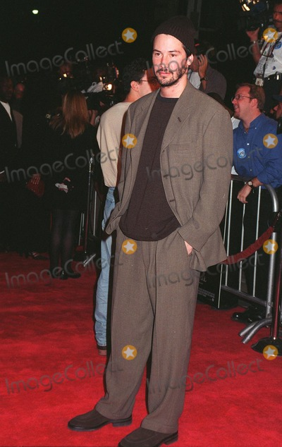"""Al Pacino, Keanu Reeves Photo - 13OCT97: Actor KEANU REEVES at the world premiere of his new movie, """"Devil's Advocate."""" He stars in the movie with Al Pacino."""