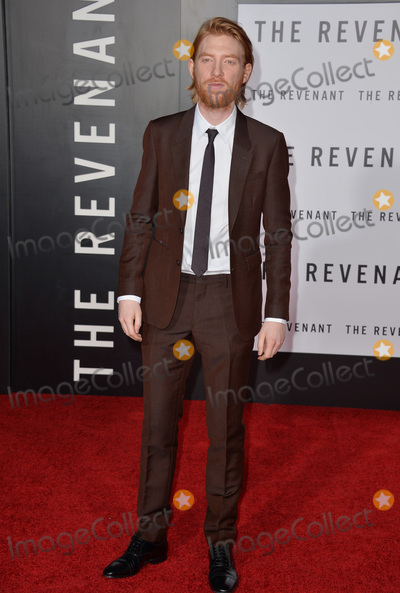"""DOMHNALL GLEESON, TCL Chinese Theatre Photo - Actor Domhnall Gleeson at the Los Angeles premiere of his movie """"The Revenant"""" at the TCL Chinese Theatre, Hollywood. December 16, 2015  Los Angeles, CAPicture: Paul Smith / Featureflash"""