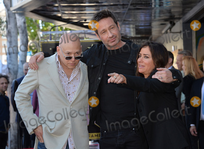 David Duchovny, Evan Handler, Pamela Adlon Photo - Actor David Duchovny & Californication co-stars Evan Handler & Pamela Adlon on Hollywood Boulevard where he was honored with the 2,572nd star on the Hollywood Walk of Fame.January 25, 2016  Los Angeles, CAPicture: Paul Smith / Featureflash