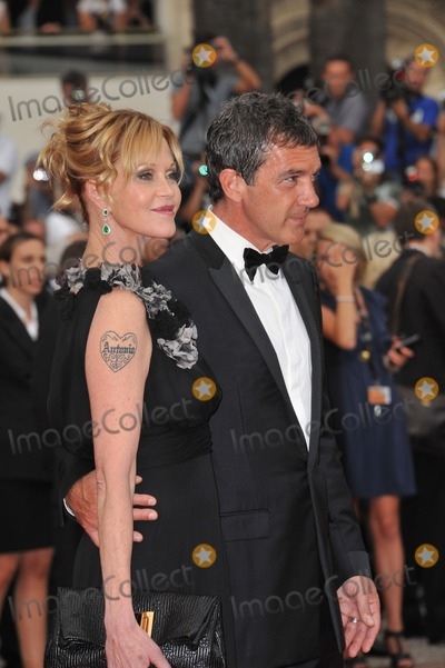 "Antonio Banderas, Melanie Griffith, Melanie Griffiths Photo - Antonio Banderas & Melanie Griffith at the gala premiere for ""Midnight in Paris"" the opening film at the 64th Festival de Cannes.