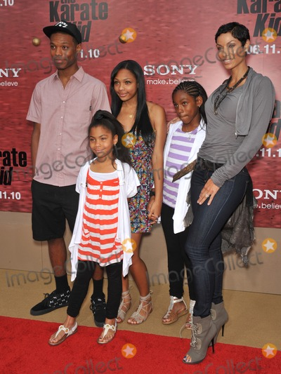 """Nicole Mitchell Murphy, NICOLE MITCHELL, Nicole Murphy Photo - Nicole Mitchell Murphy & family at the Los Angeles premiere of """"The Karate Kid"""" at Mann Village Theatre, Westwood.June 7, 2010  Los Angeles, CAPicture: Paul Smith / Featureflash"""