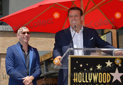 Pitbull, Tony Robbins Photo - LOS ANGELES, CA. July 15, 2016: Singer Pitbull (Armando Christian Perez) with motivational speaker Tony Robbins on Hollywood Blvd where Pitbull was honored with the 2,584th star on the Hollywood Walk of Fame.