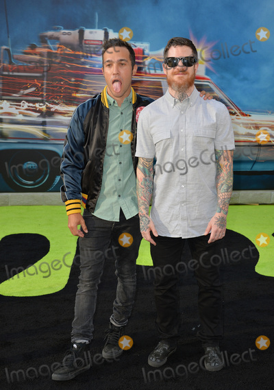 "Andy Hurley, Fall Out Boy, Pete Wentz, TCL Chinese Theatre Photo - LOS ANGELES, CA. July 9, 2016: Rock band Fall Out Boy - Pete Wentz & Andy Hurley at the Los Angeles premiere of ""Ghostbusters"" at the TCL Chinese Theatre, Hollywood.