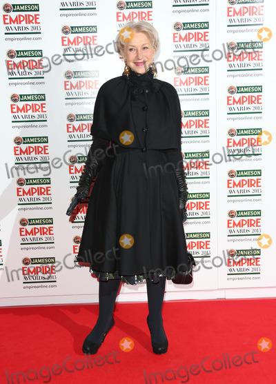 Dame Helen Mirren, Helen Mirren Photo - Dame Helen Mirren arrives for the Empire Film Awards 2013 at the Grosvenor House Hotel, London. 24/03/2013 Picture by: Henry Harris / Featureflash